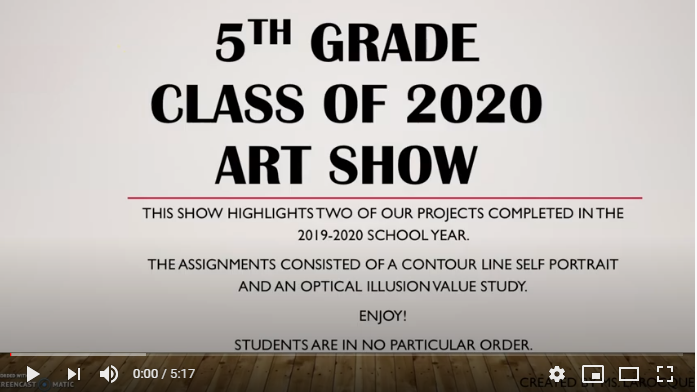 Cloverbank 5th Grade Virtual Art Show