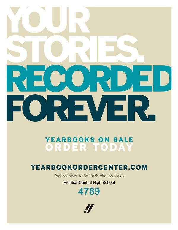Yearbooks are on sale now. Code is 4789.