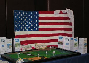 American Flag and Salt Map