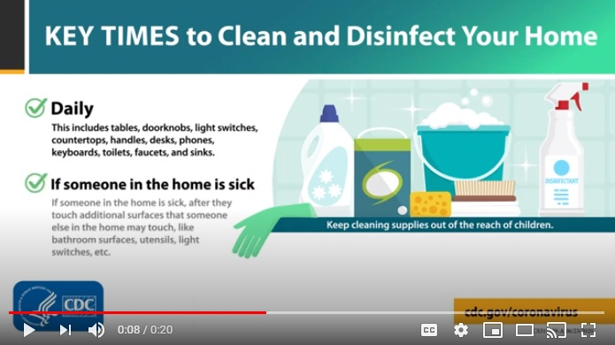 Key times to clean and disinfect your home