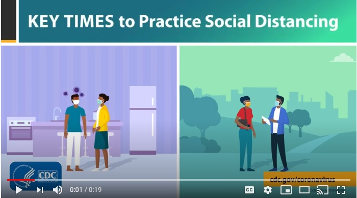 Key times to practice social distancing